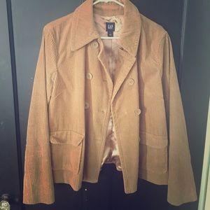 Large tan corduroy Gap blazer
