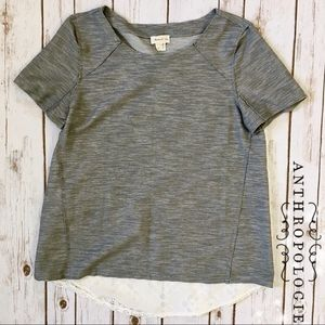 Anthropologie • Meadow Rue Contrast Layered Tee