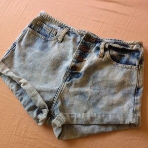 Premium Denim High Waisted Shorts