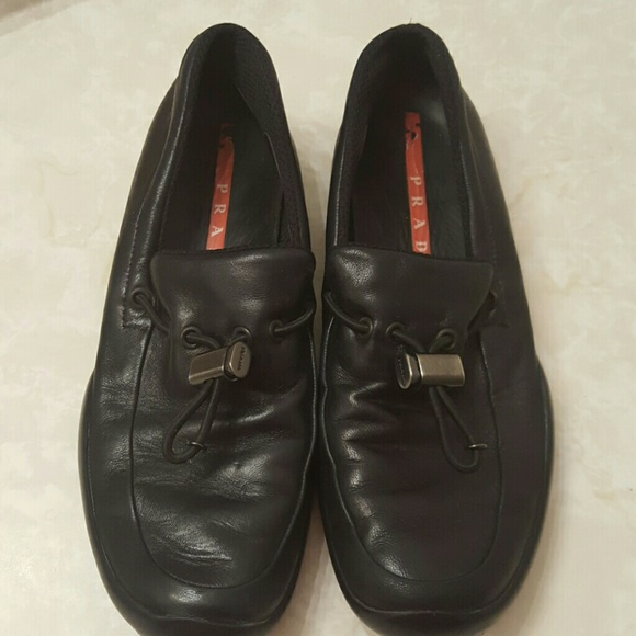 22bfb22c735 ... leather loafer shoes men women 39d1f a3039  official women prada toggle black  loafers sz 7.5 a7461 25b8a