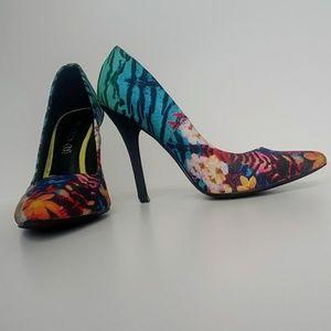 """ALDO : Floral Print 4"""" Stilettos"""