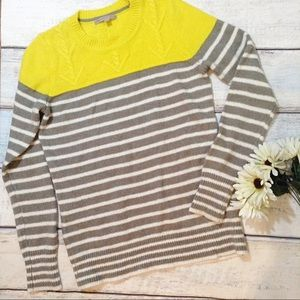 GAP Striped Color Block Knit Sweater