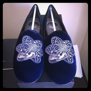 MARC BY MARC JACOBS VELOUR EMBROIDERED LOAFER $198