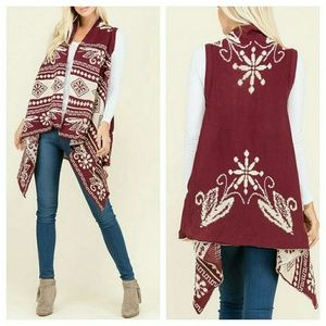 "COMING! ""Jena"" Sweater Vest Cardigan"