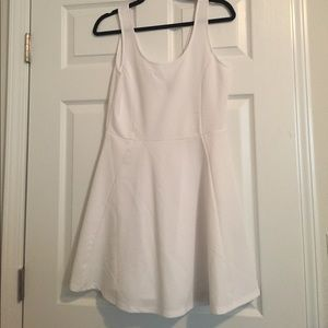 Simple white skater dress
