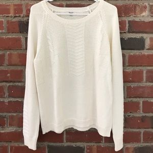 Madewell Ivory Sweater, size L, new without tag