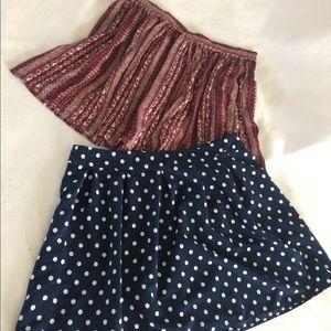 Two mini skirts