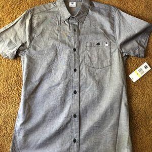Men's DC button down t-shirt