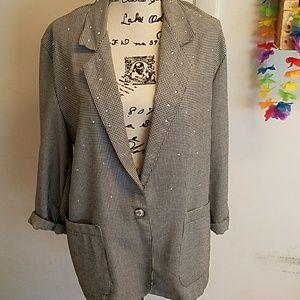Vintage TRACY EVANS Houndstooth Blazer