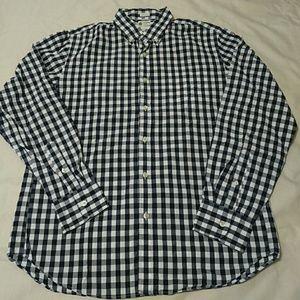 Men's J.Crew Gingham Checkered Button Down Shirt