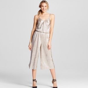 Metallic Silver and Gold Romper