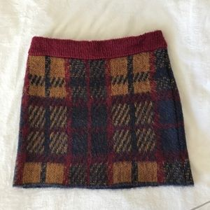Tartan checked wooly skirt - urban outfitters L