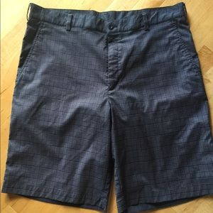 Gray plaid Nike golf shorts