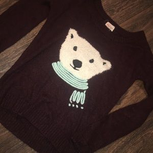 ✨NEW LISTING✨ Maroon Polar bear sweater