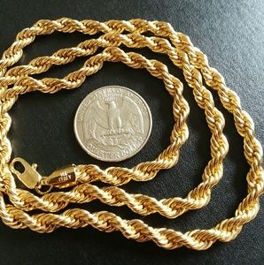 14k Gold Twisted Rope Chain