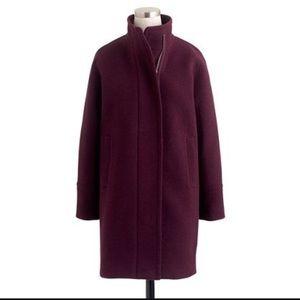 Jcrew Stadium-cloth cocoon coat