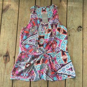 NWT Silk Print Anthropologie Tank