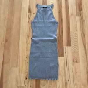 NWT Forever 21 Gray Ribbed Sweater Dress