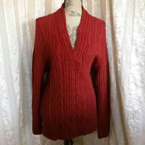 Jeanne Pierre Woman Cableknit Sweater