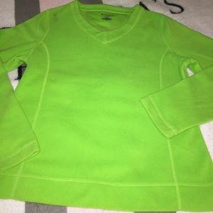 Lime green Tek Gear v-neck sweater