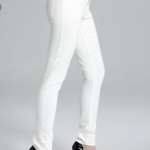 Theory Women's White Jeans Billy Construction