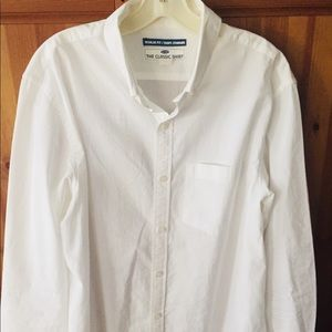 OLD NAVY men's white button down dress shirt