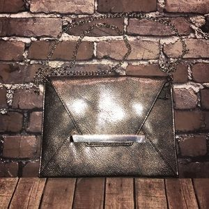 Metallic~MOSSIMO~Faux Leather Envelope Clutch