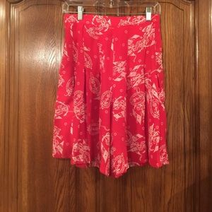 Vintage Nautical Theme Pleated High Waist Shorts