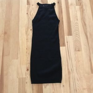 NWT Forever 21 Black Ribbed Sweater Dress