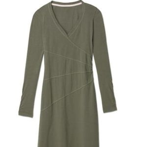[ Athleta ] Green Cotton Sunburst Dress / M