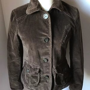 Gap Brown Corduroy Blazer Jacket Sz 2 & 8