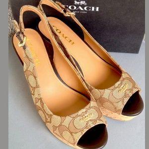 Coach Jacquard Monogram Shoes Womens 8