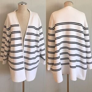 NWT Coldwater Creek Double Stripe Knit Jacket