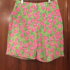 Key West Rose Print Bermuda Shorts