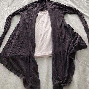 High low dark grey cardigan