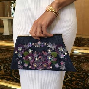 Sample Sale Embellished Rhinestone Clutch Bag NWOT