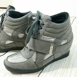 Wedge Sneakers Gray/Silver
