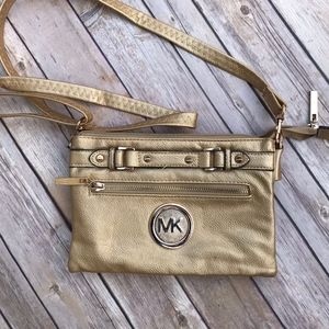 Michael Kors Gold Crossbody.