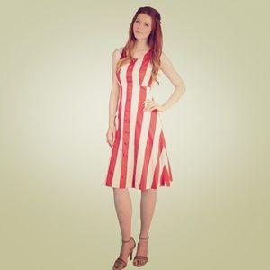 Modcloth Bea & Dot Striped Modern Twirl Dress