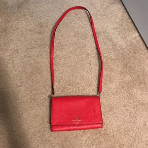 LIKE NEW Red Kate Spade Crossbody Bag