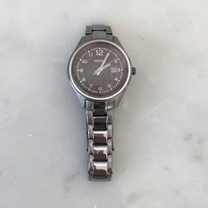 Gunmetal fossil watch