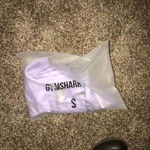 Gymshark lavender seamless long sleeve crop top