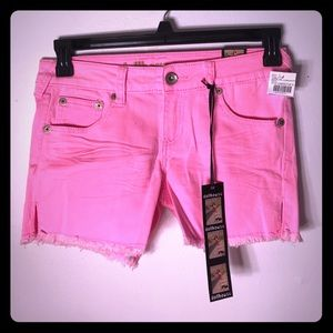 Dollhouse Faded Pink Denim Shorts