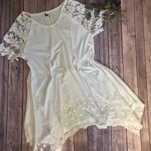 Tops - White lace tunic NWOT