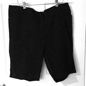 Counterparts Trouser Shorts 20W Black Plus Size