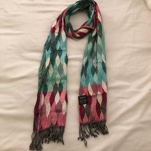 Tolani jewel tone printed scarf