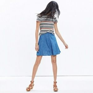 Madewell denim Piazza skater skirt
