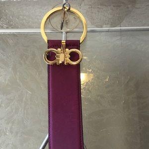 Salvatore Ferragamo purple belt