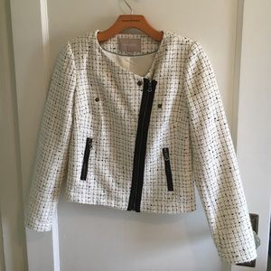 NWT-Banana Republic Boucle Moto Jacket