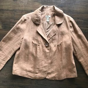 Anthropologie Elevenses One Button Front Jacket